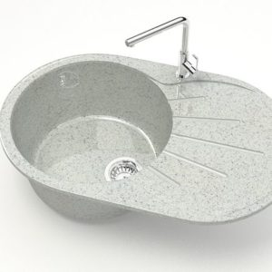 Круглая каменная мойка Z110Q10